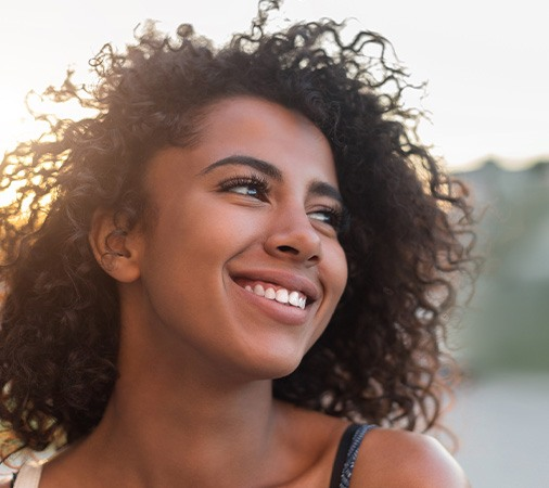 Young woman with beautiful smile