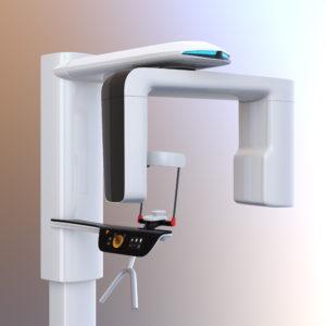 Cone beam scanner machine in dentist office